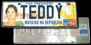 2004-Philippine-PRESIDENT-ARROYO-COMMEMORATIVE-License-Car-Plate-TEDDY