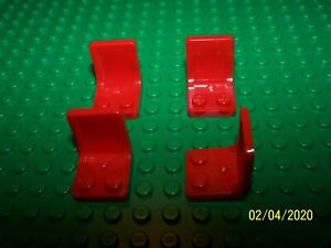LEGO 4  Minifigure Utensil Seat Sets of 4 2x2 Part 4079 Chair Used