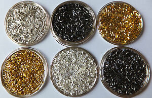 1000-Pcs-Metal-Crimps-Stopper-Beads-Silver-Gold-Bronze-Black-Plated-2mm