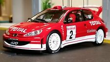 AutoArt SLOT Car 1:32 PEUGEOT 206 WRC 2003 RED Lighting Lamps NEW Scalextric