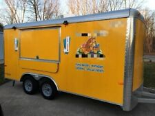 Used Turnkey 2015 8 X 16 Cargo Craft Expedition Ice Cream Concession Trailer F