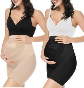 Womens Maternity Shapewear Mid-Thigh Pettipant Seamless Abdomen Underwear UK