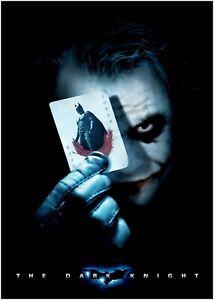 Batman Logo Dark Knight Vintage Movie CANVAS Art Print A0 A1 A2 A3 A4