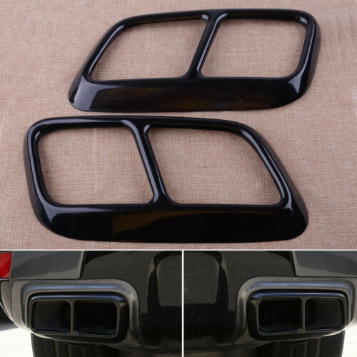 Black Exhaust Mufflers Cover Fit For Land Rover Range Rover Sport 2018-2019