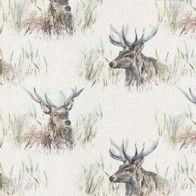 Voyage Decoration Wallace Stag Designer Fabric Curtain Upholstery Cushion Blinds