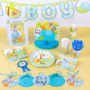 Baby Boy Jungle Animals Safari Baby Shower Decorations Ebay