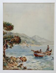 Landschaft-Der-Cote-D-Azur-Roquebrune-Beaurivage-Unterzeichnet-Marine-Italien