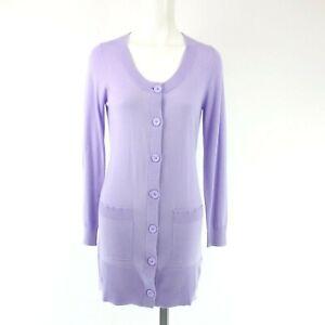 Repeat-Women-039-s-Knit-Jacket-Coat-82073-Size-36-38-40-42-Purple-Long-Np-139-New