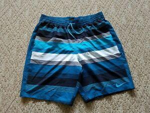 EUC-Nike-Men-039-s-Swimming-Trunks-Board-Shorts-Color-Blue-Size-Large-L-Swim-Surf