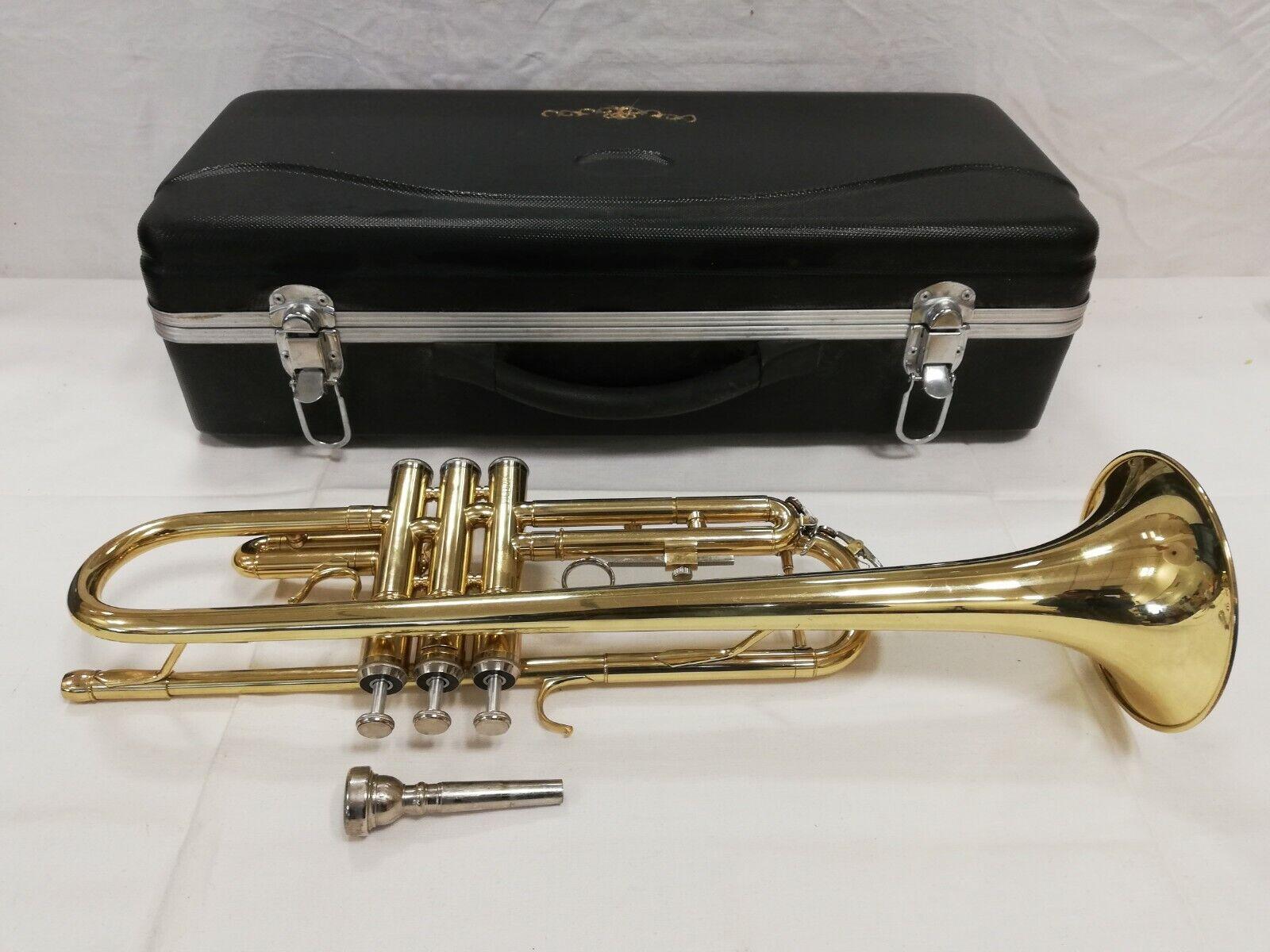 Brass Bb Sopran Posaune Zugtrompete Trompete Trumpet Putztuch Koffer Mundstück