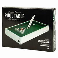 Table Top Wooden Mini Pool Table Fun Set Kids Desktop Lightweight & Portable