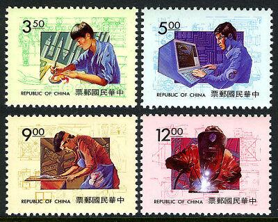 Zuversichtlich China Taiwan 2907-2910 Perfekte Verarbeitung Postfrisch Berufliche Training.artist Welder Tischler