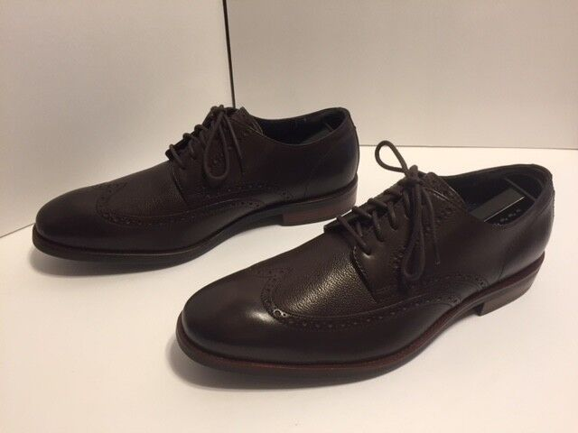 Cole Haan Mens Watson Dress Wingtip Oxfords Dimensione 11 M Mahogany C26982