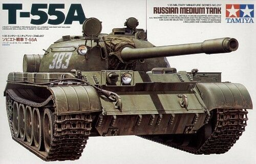 Tamiya 1 35 35 35 T-55A Russian Medium Tank Plastic Model Kit db0a3b