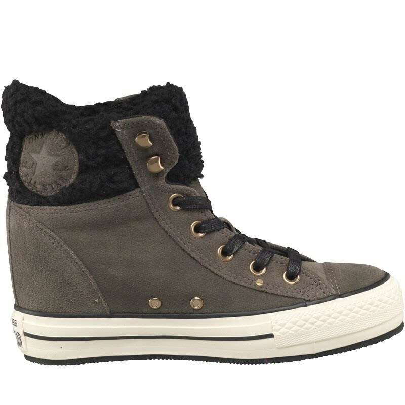 Converse CT All Star Star All Hi Platform Fur Trainers, Charcoal, UK 5 EU 37.5, BNIB 118531