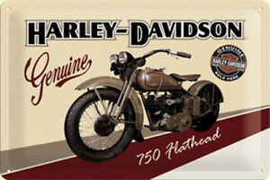 Harley-Davidson-750-Flathead-Relieve-Acero-Signo-300mm-x-200mm-Na
