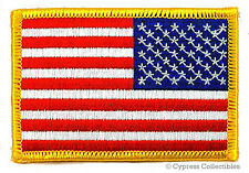 "American Flag Tan Brown Desert Embroidered 3.5/"" Patch USA Flag Patch Biker MC"
