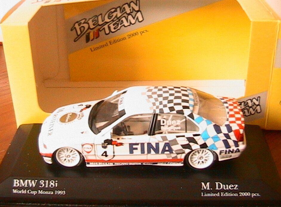 entrega gratis BMW 318I E36  4 WORLD WORLD WORLD CUP MONZA 1993 DUEZ MINICHAMPS 434 932304 1 43 BELGIQUE  en venta en línea