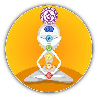 "Yoga Meditation Emblem Car Bumper Sticker Decal 5/"" x 5/"""