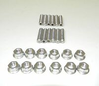 Sb Chevy 327 350 383 Stainless Steel Exhaust Header Stud Kit 1 1/2 Long
