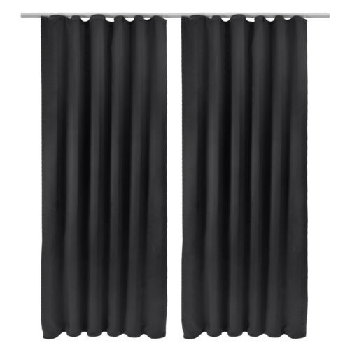 2x Verdunkelungsvorhang 140x245cm Verdunkelungsgardine Blackout Vorhang Gardine