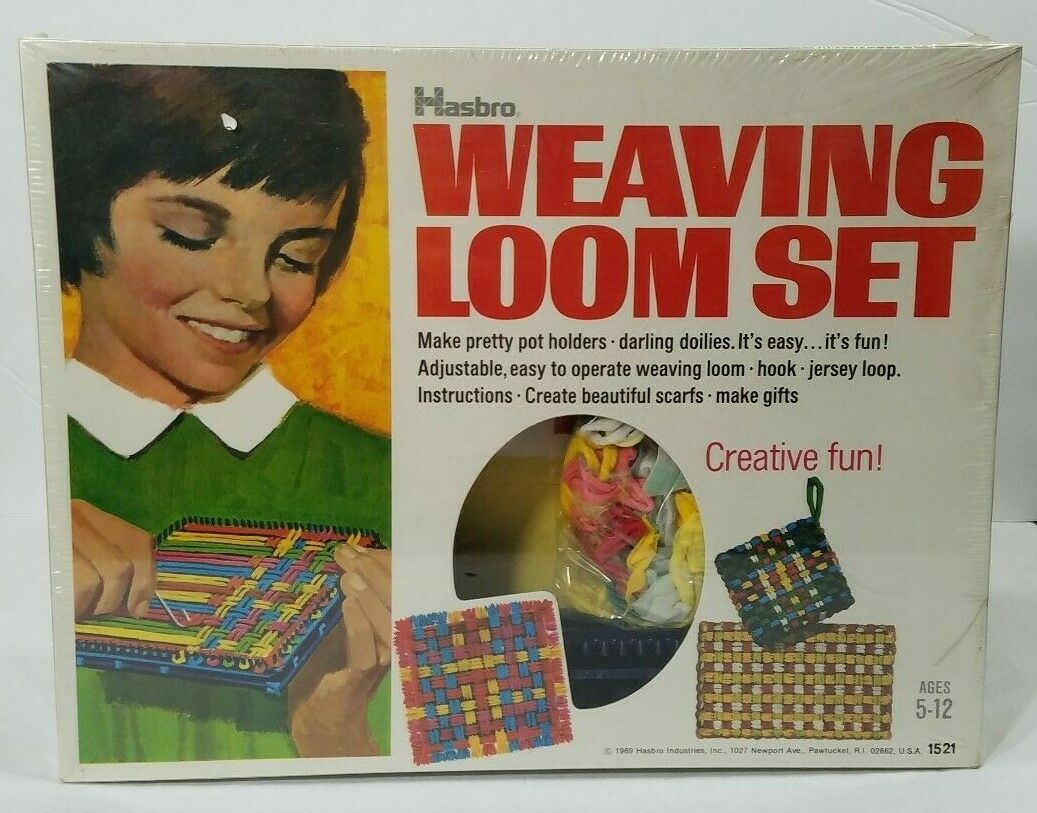 Vintage Hasbro  1521 Tabletop  Weaving Loom Set 1969 NIB Potholder Sautof Craft  edizione limitata a caldo