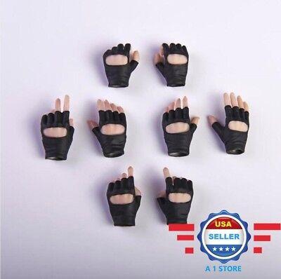 "1//6 Scale Female Black Gloved Gun Hold Suntan Hands For 12/"" PHICEN Figure ☆USA☆"