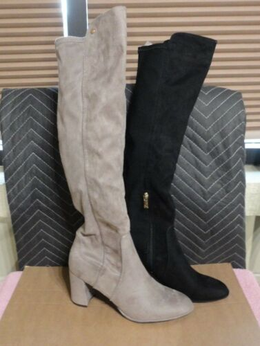 WOMENS LIZ CLAIBORNE OVER THE KNEE BLOCK HEEL ZIP BOOTS MULTIPLE COLORS//SIZES
