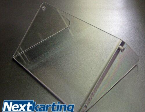 Rotax Evo Max Véritable Transparent-CURRENT Argent radiateur Rabat-nextkarting
