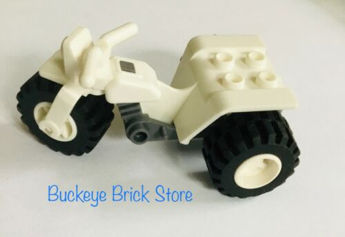 LEGO WHITE TRICYCLE Minifig Vehicle Motorcycle