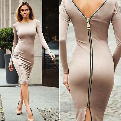 UK Womens Bandage Bodycon Long Sleeve Evening Sexy Party Cocktail Mini Dress