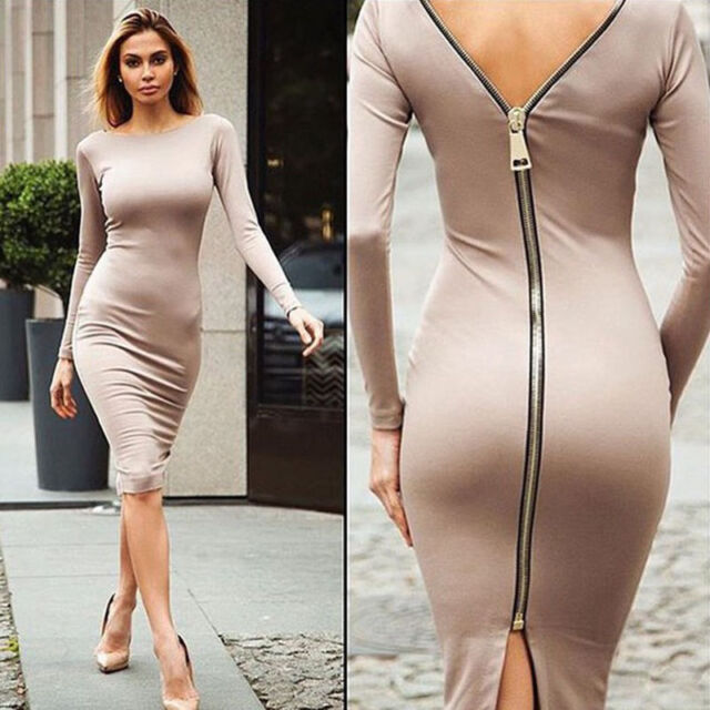 Women Bandage Bodycon Long Sleeve Evening Sexy Party Cocktail Mini Dress