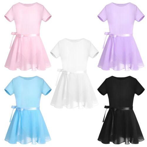 Leotard Dancing Costume Girls Ballet Dress Ballerina Dancewear Kids Tutu Skirt