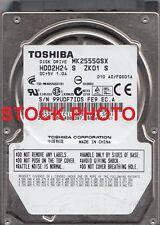 "Toshiba MK2555GSX 250GB 2.5"" Mobile Hard Disc Drive (SATA, 5400 rpm, 8 MB)"