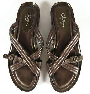 Women-039-s-Cole-Haan-G-Series-Copper-Color-Wedge-Slides-Sandals-Size-7-1-2-B-Flats