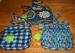 Vera-Bradley-PETITE-DOUBLE-ZIP-HIPSTER-crossbody-little-purse-shoulder-bag