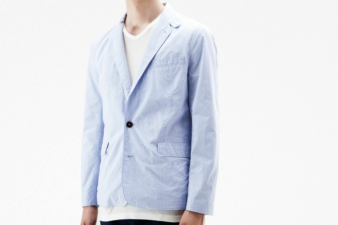 Acne Dandy Blau Stripe Blazer, Größe 50 - BNWT,