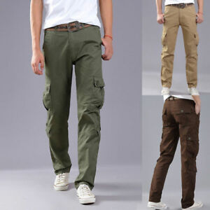 Men-039-s-Combat-Army-Military-Tactical-Work-Slim-Fit-Twill-Cargo-Pants-Trousers