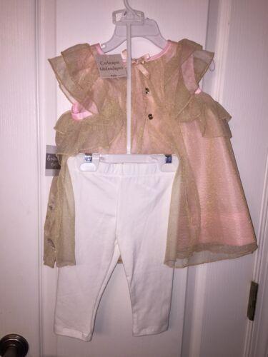 NWT Catherine Malandrino Mini Easter Toddler Dress Leggings 2pc Outfit Set Girls