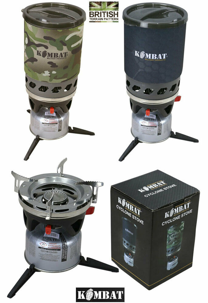 Kombat Cyclone Cooking Fast Boil Combat Military Army Camping Hiking Jet Stove