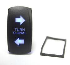 Blue Illuminated Turn Signal Lighted Switch Rocker Spdt 20a 12vdc 4pin