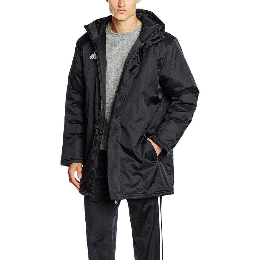 Veste adidas Core Stadium Veste d \\ entraînement noire avec zip intégral avec capuche