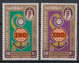 Kuwait-1975-Mi-662-63-Metrischesa-System-World-standarts-day