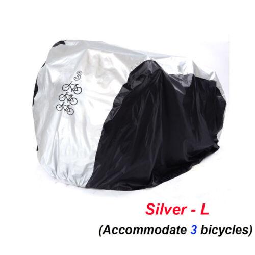 Waterproof Single//Double//Triple Bicycle Bike Cycle Cover Rain Dust Sun Protector