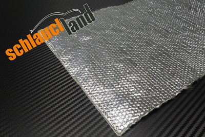 1,0m x 0,5m Alu-Keramik Hitzeschutzmatte ULTRA selbstklebend***Turbo Auspu