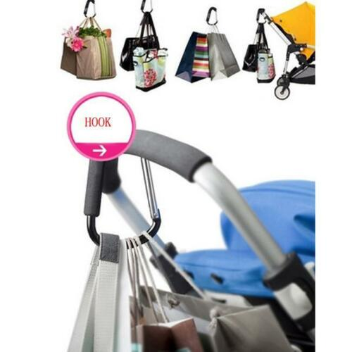 S Trendy Baby Pushchair Stroller Clip Hook Buggy Pram Diaper Bag Hanger NEW