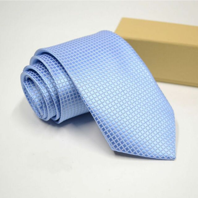 Silk Classic Black Blue Plaid Tie Business Style Men/'s Tie Men/'s Accessories
