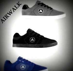Airwalk Musket Skate Shoes Mens Black Skateboarding Trainers Sneakers