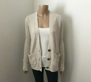 Details about NWT Hollister Womens Knit Cardigan Size Small Sweater Beige