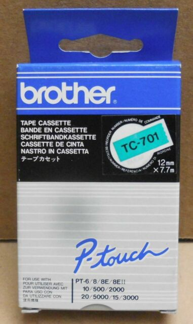 Brother TC-701 P-Touch Tape black green  12mmx7,7m für P-Touch 2000 3000 OVP
